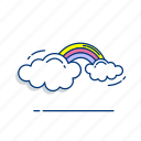 cloud, colorful, nature, rainbow, sky, spring, weather icon