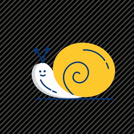 animal, invertebrate, nature, slug, snail, spiral, wildlife icon