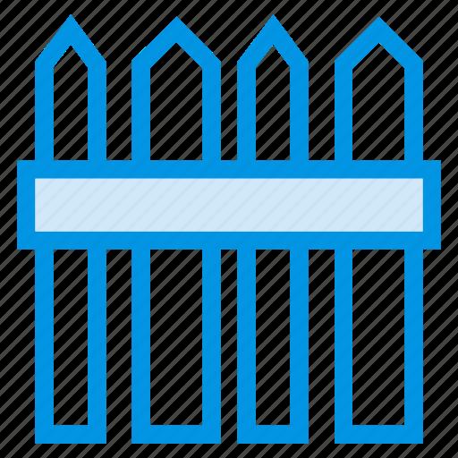 area, border, farm, fence, garden, land, wooden icon