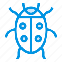 autumn, bug, fly, insect, ladybug, nature, virus icon