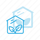 bio, farming, gardening, glasshouse, greenhouse, natural, plant icon