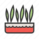plant, garden, nature, spring, pot, decoration, grass icon