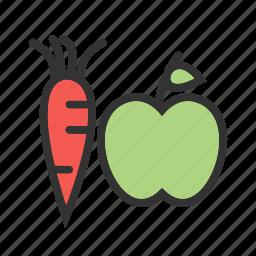 food, fruit, fruits, green, healthy, vegetable, vegetables icon