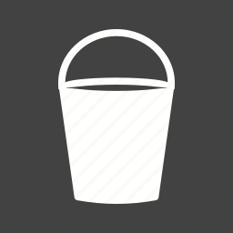 bucket, container, fill, leaky, tin, water, wet icon