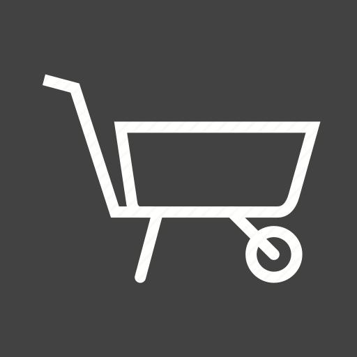 barrow, cart, garden, gardening, plastic, spade, wheelbarrow icon