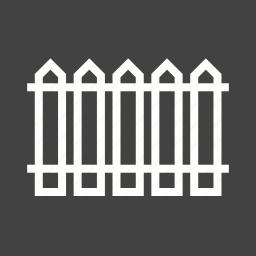 fence, flower, garden, horizontal, iron, picket, white icon