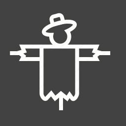 crow, face, field, scare, scarecrow, season, smile icon