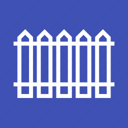 design, fence, flower, garden, iron, picket, white icon