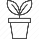 flower, flowerpot, garden, gardening, plant, pot, tool icon