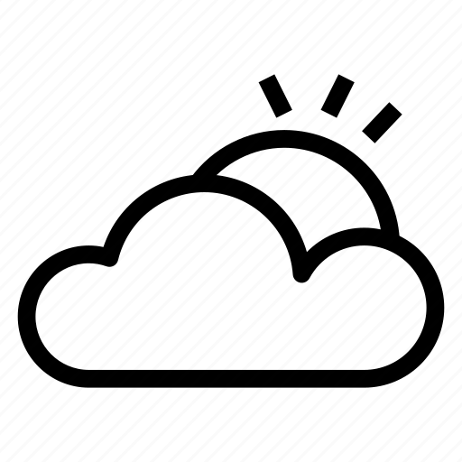 cloud, cloudy, computing, ecology, nature, sun, weather icon