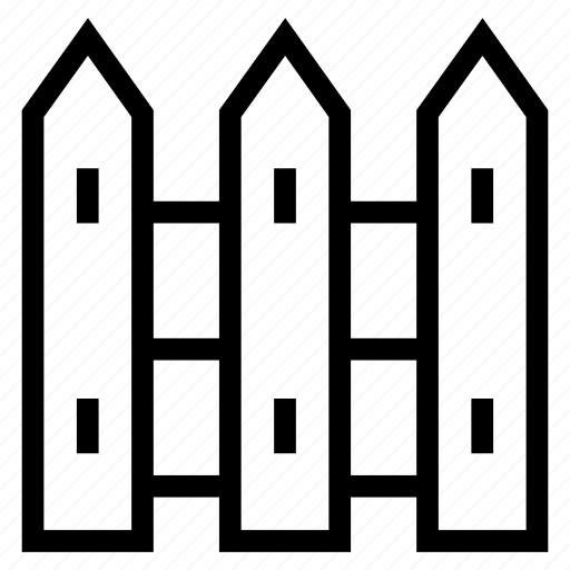 area, border, farm, fence, garden, land, wood icon