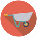 equipment, garden, gardening, tool, wheelbarrow icon