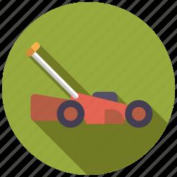 cordless, equipment, garden, gardening, lawnmower, tool icon