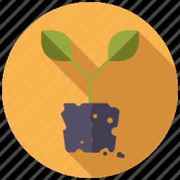 garden, gardening, plant, soil, sprout icon
