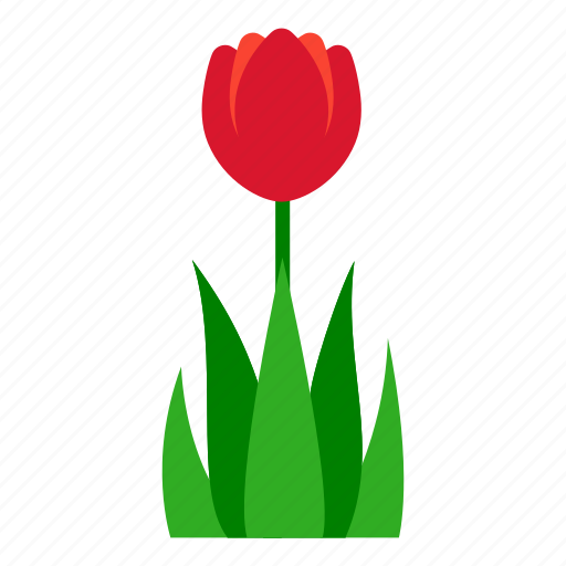 flower, garden, gardening, grass, leaves, nature, tulip icon