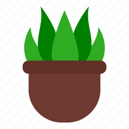 garden, grass leaves, ground, leaves, nature, plant, pot icon