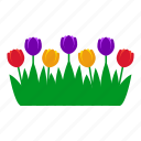 flowers, garden, gardening, grass, leaves, nature, tulip icon