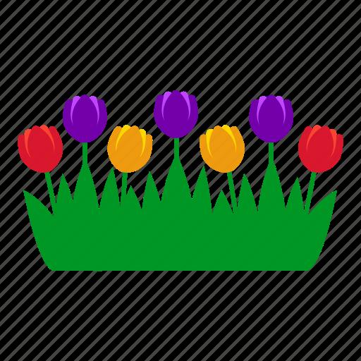 flowers, garden, gardening, grass, leaves, nature, tulip icon