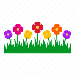 flowers, garden, gardening, grass, leaves, nature, plants icon