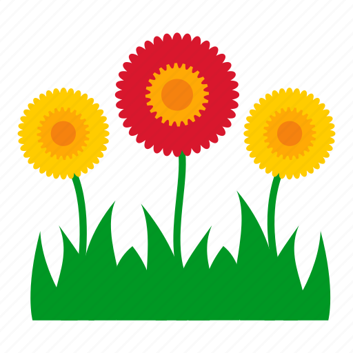 flowers, garden, grass, leaves, nature, plants, sunflower icon