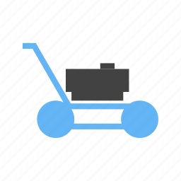 cutting, for, grass, lawn, mower icon