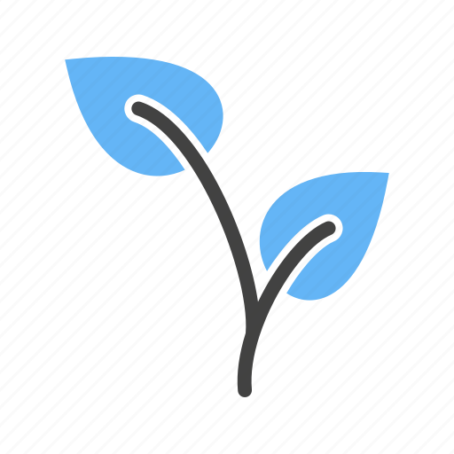 growing, leaves, plant, stem icon