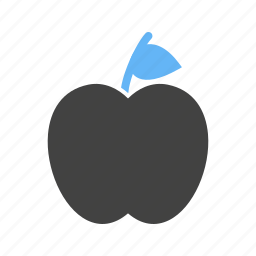 apples, fruit, leaves, with icon