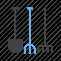 for, garden, gardening, tools icon