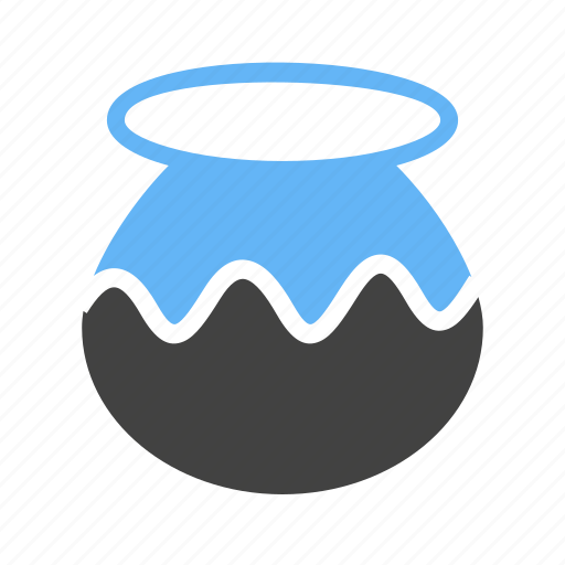 mud, plant, pot, utensil icon