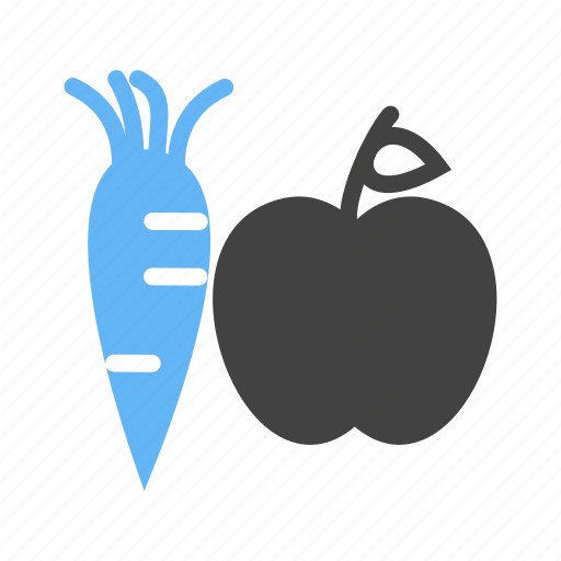apple, carrot, fruits, vegetables icon