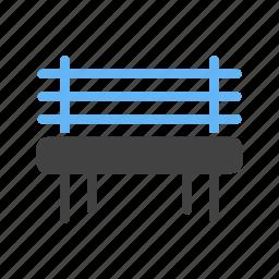 bench, for, garden, rest icon