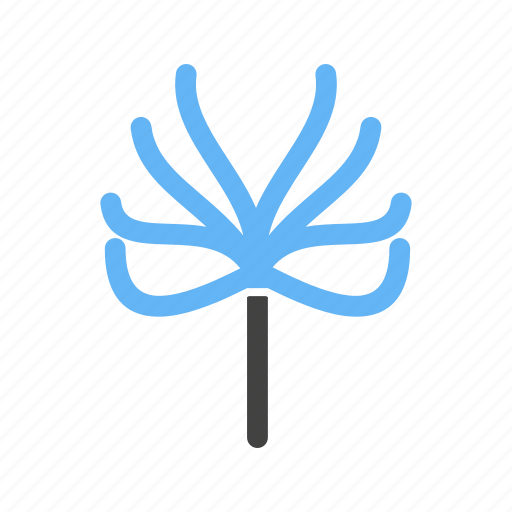 leaves, no, tree, with icon