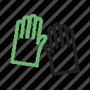 clothing, garden, gardening, gloves, green, hand, work