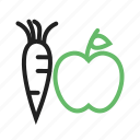 food, fruit, fruits, green, healthy, vegetable icon