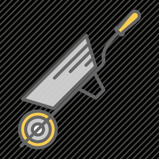 barrow, carry, garden, heavy, transfer, wheel, wheelbarrow icon
