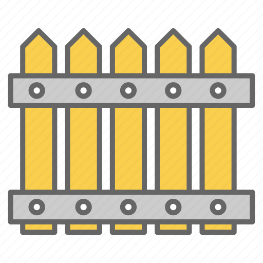 boarder, color, fence, garden, gate, palisade, wooden icon