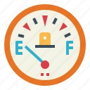 car, fuel, gauge, measure icon