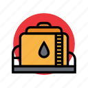 bunker, fuel, gas, oil, petrol, station icon