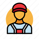 employee, fuel, gas, oil, petrol, station icon