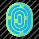 finger, fingerprint, login, security, smartphone icon