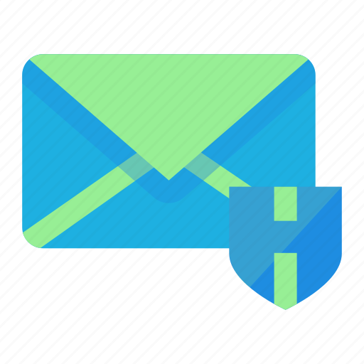 mail, security, shield, spam, virus icon