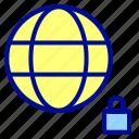 internet, lock, security, website, world icon