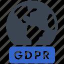 gdpr, rules, global, world, worldwide icon
