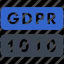 data, gdpr, personal, code icon