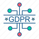 connect, eu, gdpr, network, secure icon