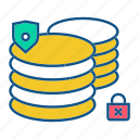 data, database, gdpr, secuirty, secure icon