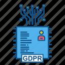 data, database, gdpr, secure, user icon