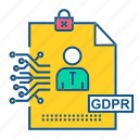 data, gdpr, secure, user icon
