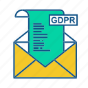 box, email, gdpr, letter, mail icon