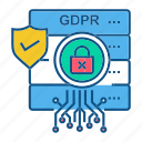 file, folder, gdpr, secure, security icon